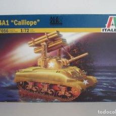Maquetas: MAQUETA TANQUE MILITAR M4A1 CALLIOPE ESCALA 1 / 72 MARCA ITALERI N. 7056 - CARRO DE COMBATE -. Lote 104787627
