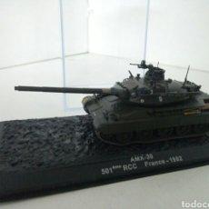 Maquetas: TANQUE FRANCES AMX-30 501 ÈME RCC 1982 MEDIDAS CAJA17X7X7CMS. Lote 104863800