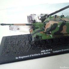 Maquetas: AMX AU F-1 3 REGIMIENTO DE MARINA CANJEURS(FRANCIA) 1997 CAJA17X7X7CMS. Lote 104864710