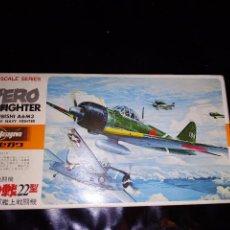 Maquetas: MAQUETA HASEGAWA ZERO FIGHTER MITSUBISHI A6M3 NUEVA SIN ABRIR 1/72. Lote 105281043