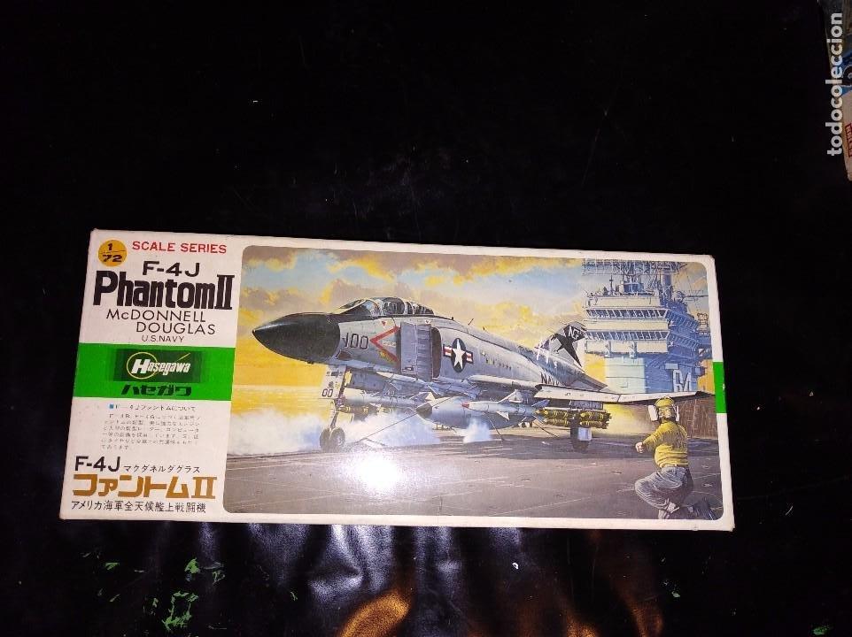 MAQUETA HASEGAWA F 4J PHANTOM II MC DONENELL US NAVY 1/72 (Juguetes - Modelismo y Radio Control - Maquetas - Aviones y Helicópteros)