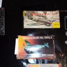 Maquetas: LOTE DE MAQUETAS AVIONES 1/72 MATCHBOX HELLER. Lote 105289279