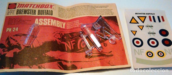 Maquetas: Maqueta de avión de combate Brewster Buffalo, escala 1:72. Matchbox, PK-24. Año 1974. - Foto 4 - 105321919