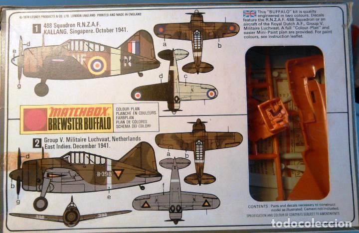 Maquetas: Maqueta de avión de combate Brewster Buffalo, escala 1:72. Matchbox, PK-24. Año 1974. - Foto 5 - 105321919