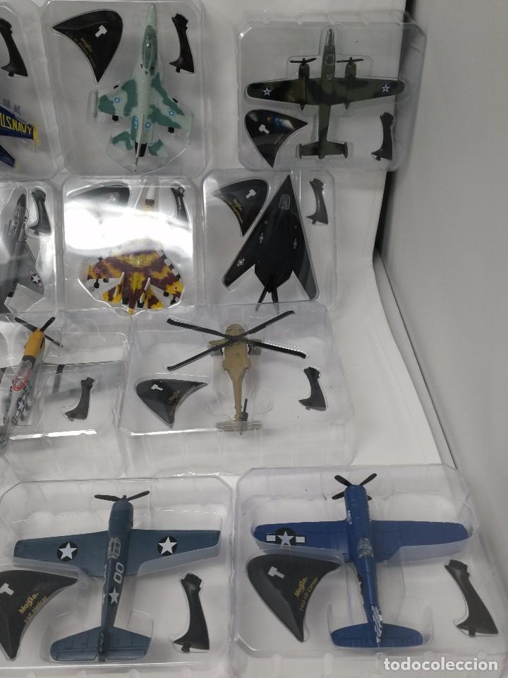 Maquetas: Colección aviones de combate, 29 aviones maisto nuevos en blister, libro fichas y mueble expositor - Foto 4 - 105444487
