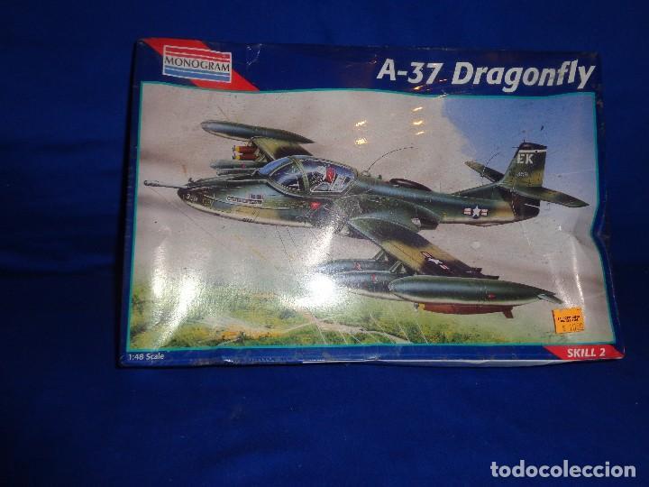 Maquetas: MONOGRAM - MAQUETA AVION A-37 DRAGONFLY SCALA 1:48 AÑO 1995 A ESTRENAR VER FOTOS Y DESCRIPCION! SM - Foto 3 - 105624275