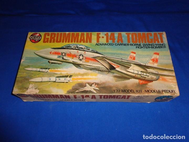 AIRFIX - MAQUETA GRUMMAN F-14 A TOMCAT SCALA 1:72 AÑO 1975 VER FOTOS Y DESCRIPCION! SM (Juguetes - Modelismo y Radio Control - Maquetas - Aviones y Helicópteros)