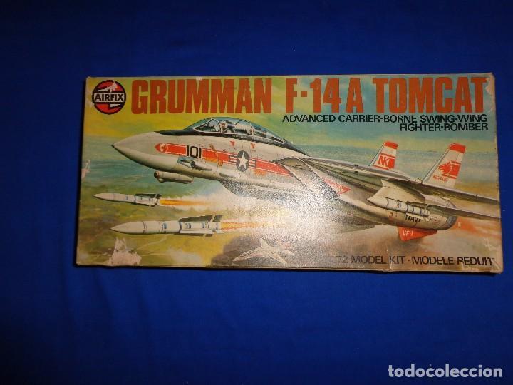 Maquetas: AIRFIX - MAQUETA GRUMMAN F-14 A TOMCAT SCALA 1:72 AÑO 1975 VER FOTOS Y DESCRIPCION! SM - Foto 17 - 105624867