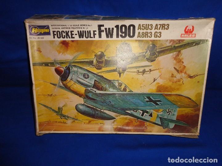 HASEGAWA - MAQUETA AVION FOCKE-WULF FW190 SCALA: 1:32, GERMAN AIRFORCE FIGHTER W.W.II VER FOTOS! SM (Juguetes - Modelismo y Radio Control - Maquetas - Aviones y Helicópteros)