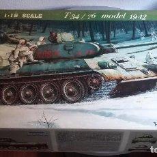 Maquetas: T 34 / 76 MODELO 1942. TRUMPETER 1/16. Lote 106738263