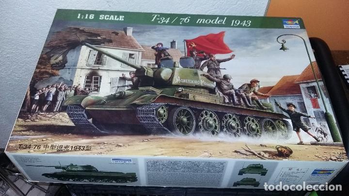 T 34 / 76 MODELO 1943. TRUMPETER 1/16 (Juguetes - Modelismo y Radiocontrol - Maquetas - Militar)