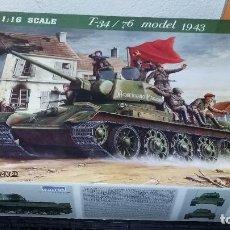 Maquetas: T 34 / 76 MODELO 1943. TRUMPETER 1/16. Lote 106738719