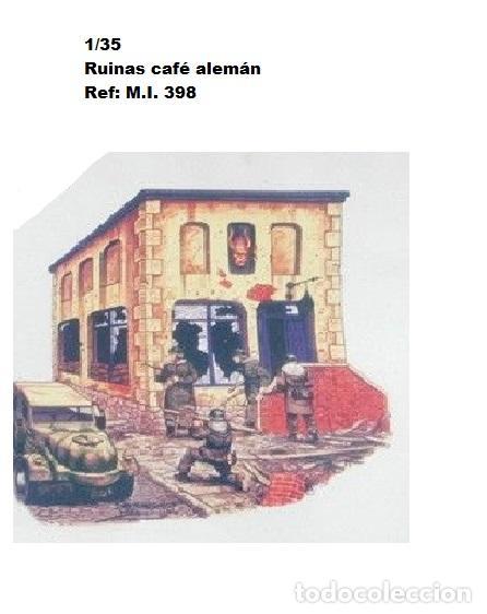 WWII RUINAS CAFE ALEMAN ESCALERA VIDRIERAS PUERTA RESINA 1/35 ACCESORIOS DIORAMA (Juguetes - Modelismo y Radiocontrol - Maquetas - Militar)