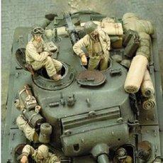 Maquetas: WWII TRIPULACION U.S. TANK CREW RESINA 4 FIGURAS 1/35 ACCESORIOS DIORAMA. Lote 107018371