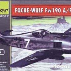 Maquetas: MAQUETA DEL CAZA ALEMÁN FOCKE WULF FW 190A8/F3 DE HELLER A ESCALA 1/72. Lote 107067011