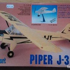 Maquetas: KIT AVIÓN PIPER J-3 CUB (MAQUETA ESTÁTICA MODELIMPORT). Lote 107451007