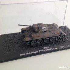 Maquetas: 1/72,TANQUE,T-34-76, 130 BRIGADA DE TANQUES, 21 CUERPO ACORAZADO, URSS 1942. Lote 107633059