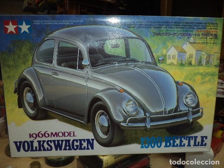 MAQUETA DE VOLKSWAGEN BEETLE 1300 DE 1966.ESC.1/24.TAMIYA Nº 166.JAPAN. (Juguetes - Modelismo y Radiocontrol - Maquetas - Coches y Motos)
