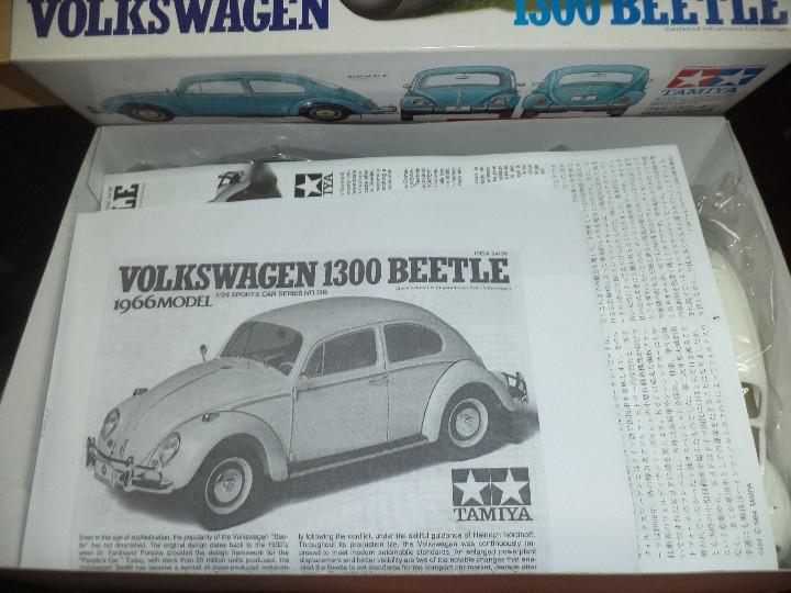 Maquetas: Maqueta de Volkswagen Beetle 1300 de 1966.Esc.1/24.Tamiya nº 166.Japan. - Foto 3 - 107720263