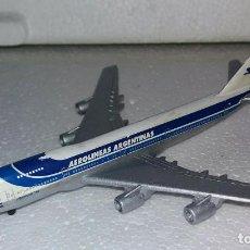 Maquetas: AVION BOEING 747 DE METAL AEROLINEAS ARGENTINAS FLAMANTE. Lote 107778027