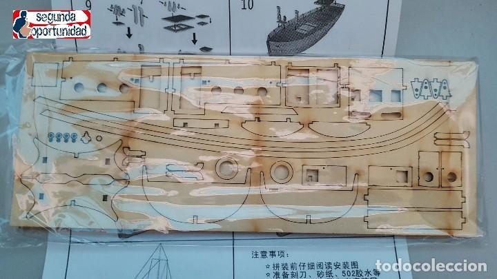 Modelle: Maqueta de madera de barco de pesca. Tamaño 24x22 cm - Foto 2 - 147659734