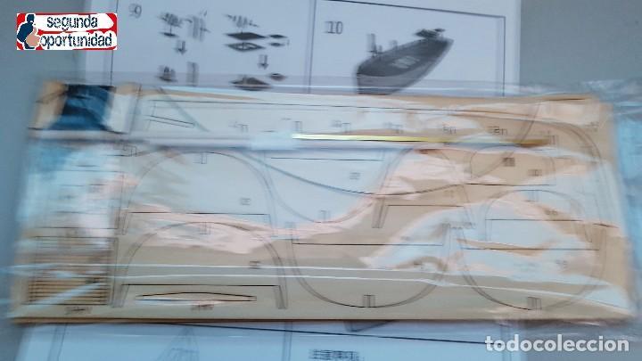 Modelle: Maqueta de madera de barco de pesca. Tamaño 24x22 cm - Foto 3 - 147659734