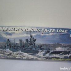 Maquetas: MAQUETA BARCO – USS NEW ORLEANS CA 32 – ESCALA 1 / 700 REF 05742 MARCA TRUMPETER. Lote 108454895