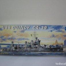 Maquetas: MAQUETA BARCO – USS QUINCY CA 39 – ESCALA 1 / 700 REF 05748 MARCA TRUMPETER. Lote 108455443