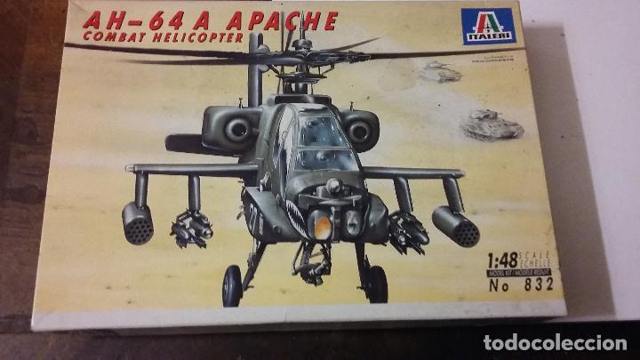 AH 64 A APACHE ATTACK HELICOPTER. ITALERI 1/48 (Juguetes - Modelismo y Radio Control - Maquetas - Aviones y Helicópteros)