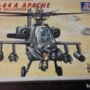 Maquetas: AH 64 A APACHE ATTACK HELICOPTER. ITALERI 1/48. Lote 108721115