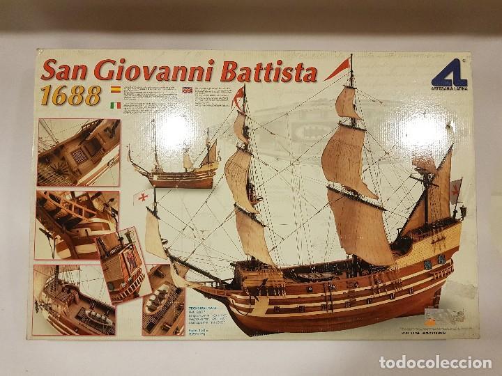 SAN GIOVANNI BATTISTA AÑO 1688. MAQUETA DE BARCO DE ARTESANÍA LATINA (Juguetes - Modelismo y Radiocontrol - Maquetas - Barcos)