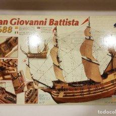 Maquetas: SAN GIOVANNI BATTISTA AÑO 1688. MAQUETA DE BARCO DE ARTESANÍA LATINA. Lote 109393527
