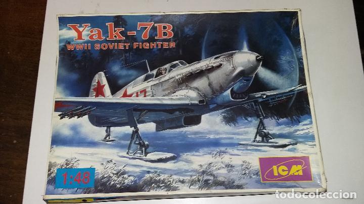 YAK 7B SOVIET FIGHTER. ICM 1/48 (Juguetes - Modelismo y Radio Control - Maquetas - Aviones y Helicópteros)