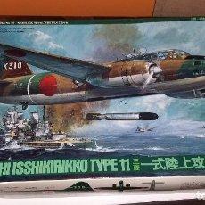 Maquetas: MITSUBISHI ISSHIKIRIKKO TYPE 11 G4M. TAMIYA 1/72. Lote 110465343