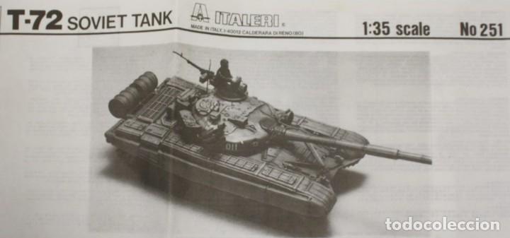 MAQUETA CARRO T-72, REF. 251, 1/35, DRAGÓN - ITALERI, INCOMPLETO. (Juguetes - Modelismo y Radiocontrol - Maquetas - Militar)