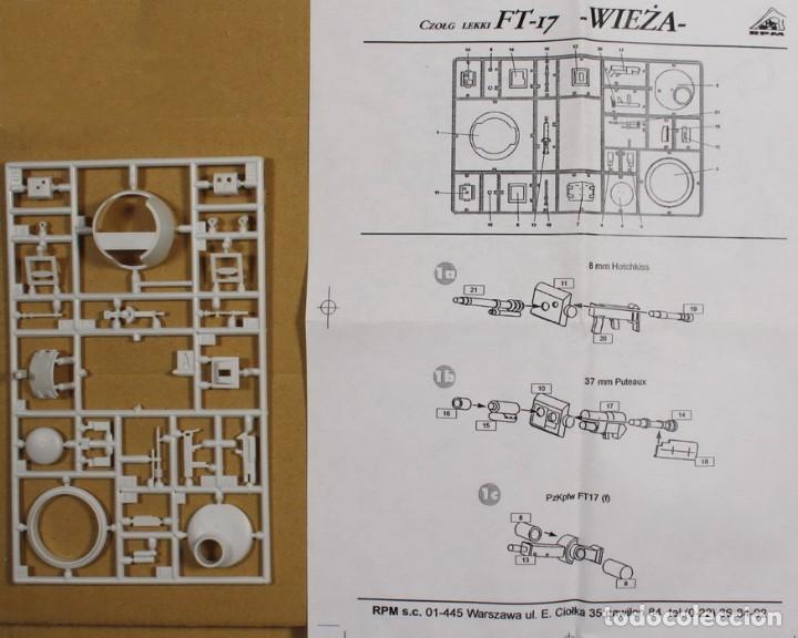 MAQUETA ACCESORIOS, TORRETA CARRO FT-17, 1/35, RPM (SIN CAJA) (Juguetes - Modelismo y Radiocontrol - Maquetas - Militar)
