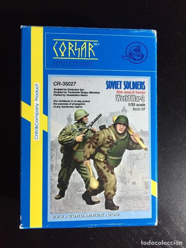 SOVIET SOLDIERS ELITE ASSAULT TROOPS 1:35 CORSAR REX CR-35027 FIGURAS RESINA MAQUETA DIORAMA (Juguetes - Modelismo y Radiocontrol - Maquetas - Militar)