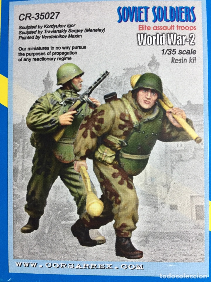 Maquetas: Soviet Soldiers Elite Assault troops 1:35 CORSAR REX CR-35027 figuras resina maqueta diorama - Foto 2 - 111388706