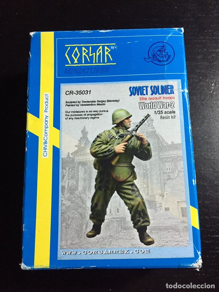 SOVIET SOLDIER ELITE ASSAULT TROOPS 1:35 CORSAR REX CR-35031 MAQUETA FIGURA DIORAMA (Juguetes - Modelismo y Radiocontrol - Maquetas - Militar)