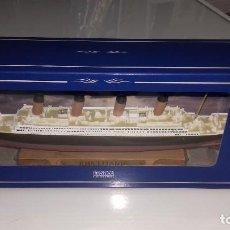 Maquetas: RMS TITANIC ED. ATLAS COLLECTIONS METAL PEANA MADERA NUEVO EN CAJA 24 CM. Lote 112037319