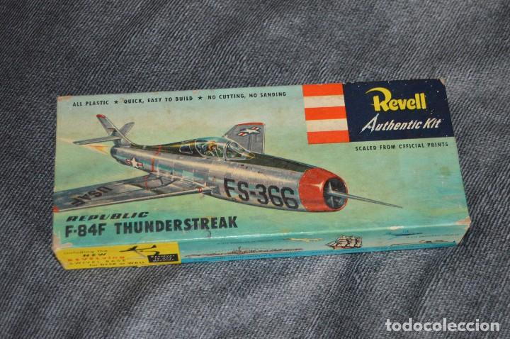 Maquetas: JOYA - VINTAGE - REVELL AUTHENTIC KIT - REPUBLIC F84F THUNDERSTREAK - H215 79 - AÑOS 50 - HAZ OFERTA - Foto 2 - 112228879