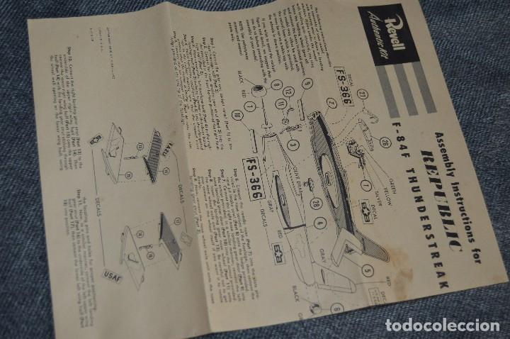 Maquetas: JOYA - VINTAGE - REVELL AUTHENTIC KIT - REPUBLIC F84F THUNDERSTREAK - H215 79 - AÑOS 50 - HAZ OFERTA - Foto 14 - 112228879