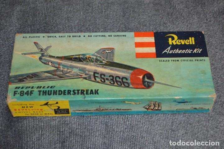 Maquetas: JOYA - VINTAGE - REVELL AUTHENTIC KIT - REPUBLIC F84F THUNDERSTREAK - H215 79 - AÑOS 50 - HAZ OFERTA - Foto 18 - 112228879