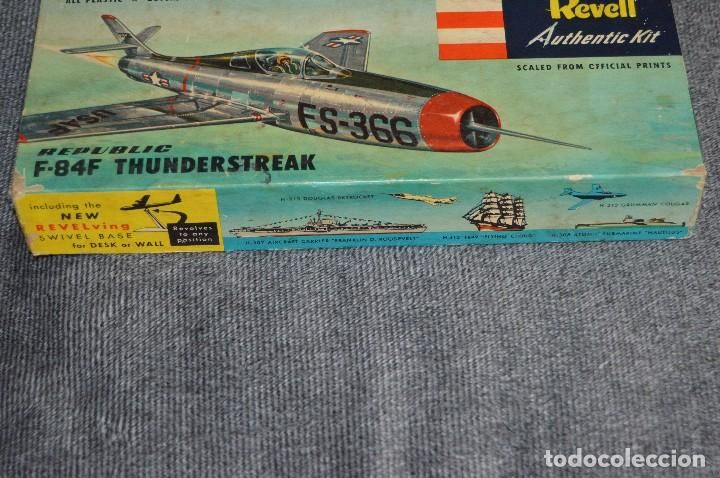 Maquetas: JOYA - VINTAGE - REVELL AUTHENTIC KIT - REPUBLIC F84F THUNDERSTREAK - H215 79 - AÑOS 50 - HAZ OFERTA - Foto 19 - 112228879