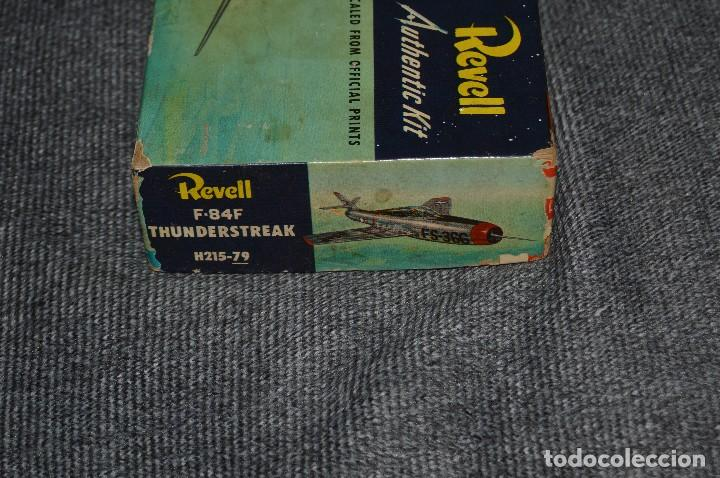 Maquetas: JOYA - VINTAGE - REVELL AUTHENTIC KIT - REPUBLIC F84F THUNDERSTREAK - H215 79 - AÑOS 50 - HAZ OFERTA - Foto 21 - 112228879