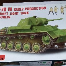 Maquetas: T 70 M EARLY PRODUCTION SOVIET LIGHT TANK. MINIART 1/35. Lote 112238103