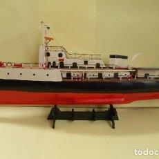 Maquetas: MAQUETA BUQUE OCEANOGRAFICO CALYPSO..MADERA.METAL. HECHO A MANO..AÑOS 80.JACQUES COUSTEAU.. Lote 112241195