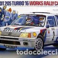Maquetas: TAMIYA - PEUGEOT 205 TURBO 16 WRC 24054 1/24. Lote 133495759