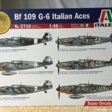 Maquetas: ITALERI MESSERSCHMITT BF109 G-6 ITALIAN ACES 1:48. Lote 195080485