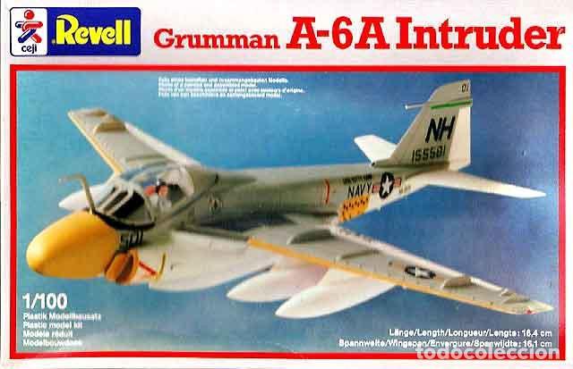 MAQUETA DEL CAZABOMBARDERO GRUMMAN A-6A INTRUDER DE REVEL A 1/100 (SEMIVINTAGE) (Juguetes - Modelismo y Radio Control - Maquetas - Aviones y Helicópteros)